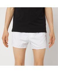 Emporio Armani Embroidered Swim Shorts - White