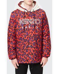 KENZO - Men's Leopard Raincoat - Lyst
