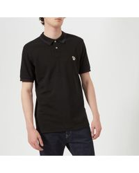 PS by Paul Smith - Men's Regular Fit Short Sleeve Tipped Polo Shirt - Lyst