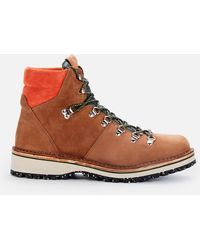 Paul Smith Ps Ash Suede Hiking Style Boots - Brown