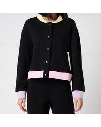 Olivia Rubin Cassia Jersey Varsity Jacket - Black