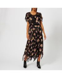 COACH - Women's Embellished Forest Floral Print Dress - Lyst