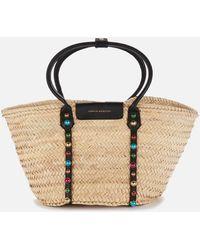 Sophia Webster Dina Stud Raffia Tote Bag - Multicolor