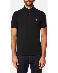 Polo Ralph Lauren Men's Custom Fit Short Sleeve Polo Shirt - Black