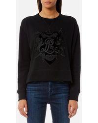 Polo Ralph Lauren - Women's Long Sleeve Crew Neck Sweatshirt With Crest - Lyst