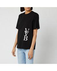 Victoria, Victoria Beckham Raised Logo T-shirt - Black