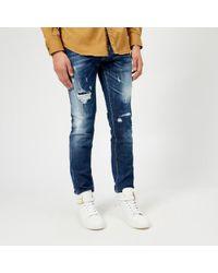 DSquared² - Men's Slash Light Wash Slim Jeans - Lyst