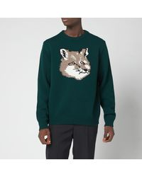 Maison Kitsuné Big Fox Head Pullover Jumper - Green