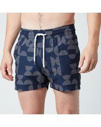 Frescobol Carioca Jacquard Shade Sport Swim Shorts - Blue