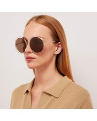 Chloé Carlina Round Frame Sunglasses - Multicolour