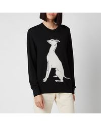 PS by Paul Smith Dog Knitted Sweater - Black