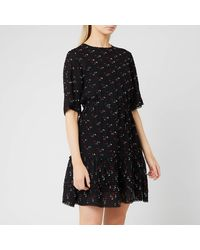 See By Chloé Jacquard Mini-dress - Black