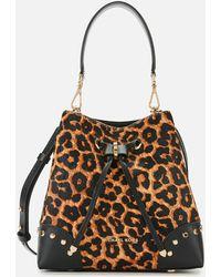 MICHAEL Michael Kors Mercer Calf Hair & Leather Shoulder Bag - Multicolour