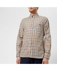 Aquascutum - York Club Check Long Sleeve Shirt - Lyst