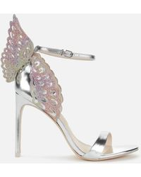 Sophia Webster Evangeline Heeled Sandals - Metallic