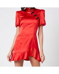De La Vali Bluebell Dress - Red
