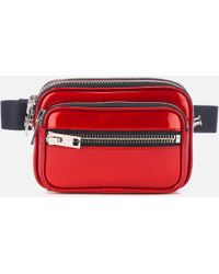 Alexander Wang Attica Soft Patent Belt Bag - Red