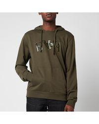 Emporio Armani Iconic Terry Hooded Sweatshirt - Green
