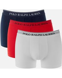 Polo Ralph Lauren 3 Pack Classic Trunk Boxers - Red