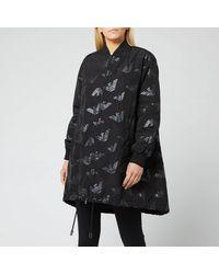 Emporio Armani Logo Print Jacket - Black