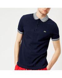 Lacoste   Men's Collar Detail Polo Shirt   Lyst
