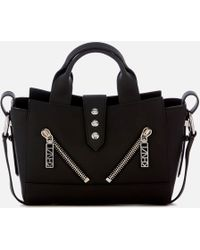KENZO Mini Kalifornia Gommato Leather Purse - Black