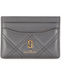Marc Jacobs Quilted Softshot Card Case - Gray