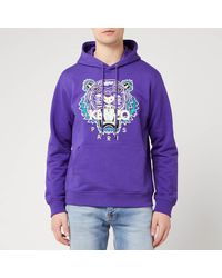 KENZO Classic Tiger Hoody - Purple