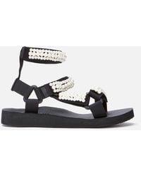 ARIZONA LOVE - Trekky Pearl Double Ankle Sandals - Lyst