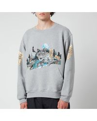 Rhude Wolf In Nature Graphic Sweatshirt - Grey