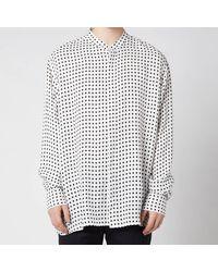 Balmain Oversized Spotted Cupro Shirt - White