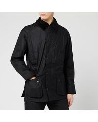 Barbour Ashby Waxed Jacket - Black