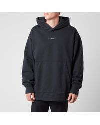 Acne Studios Reverse Logo Hooded Sweatshirt - Black