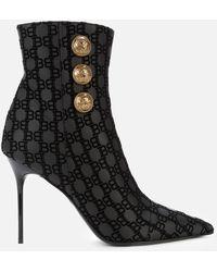 Balmain Heeled Shoe Boots - Black