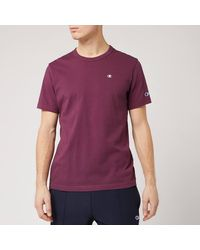 Champion Logo Crew Neck T-shirt - Purple