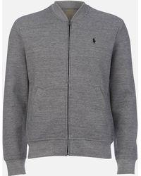 Polo Ralph Lauren Double Knit Tech Bomber Jacket - Gray