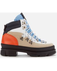 Ganni Sporty Hiking Style Boots - Multicolor