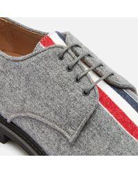 Thom Browne Tricolour Stripe Uniform Shoes - Grey