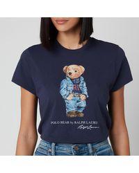 Polo Ralph Lauren Denim Bear Short Sleeve T-shirt - Blue