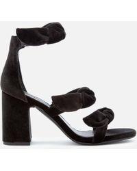 Senso - Women's Melvy Iv Velvet Triple Strap Heeled Sandals - Lyst
