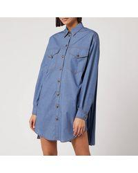 Philosophy Di Lorenzo Serafini Denim Shirt Dress - Blue