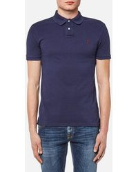 Polo Ralph Lauren - Men's Weathered Mesh Slim Fit Polo Shirt - Lyst