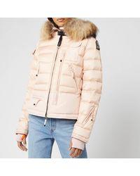Parajumpers Skimaster Fur Trim Down Coat - Pink