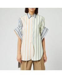 JW Anderson Parasol Round Hem Exaggerated Sleeve Shirt - Multicolor