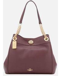 COACH - Women's Turnlock Edie Tote Bag - Lyst