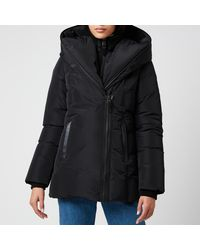 Mackage Kay Down Coat With Signature Collar In Black - Women - L