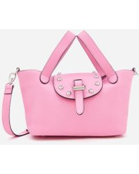 meli melo - Women's Thela Mini Tote Bag With Studs - Lyst