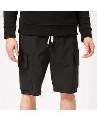 Neil Barrett Slouch Cargo Shorts - Black