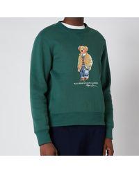 Polo Ralph Lauren Magic Fleece Polo Bear Sweatshirt - Green