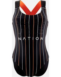 3157ddfe8c6 P.E Nation - The West Port Reversible Onepiece Swimsuit - Lyst
